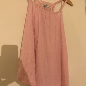 Nordstrom light pink tank top with lace back